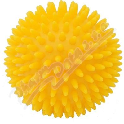 Zobrazit detail - KineMAX Hedgehog Masážní míček ježek 9cm žlutý