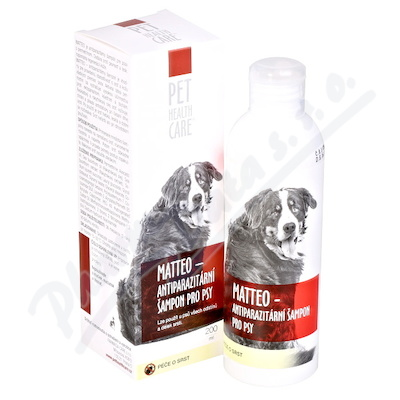 Zobrazit detail - PET HEALTH CARE MATTEO antiparazit šamp. psy 200ml