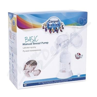 Zobrazit detail - CANPOL Ruční odsávačka mateřského mléka Basic