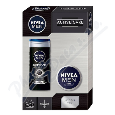 Zobrazit detail - NIVEA set muži Men krém 75ml+SG Active clean 250ml