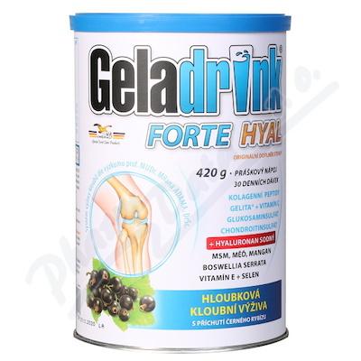 Zobrazit detail - Geladrink FORTE HYAL práško. nápoj černý rybíz 420g