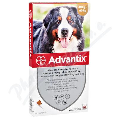 Zobrazit detail - Advantix pro psy 40-60kg spot-on a. u. v. 4x6ml