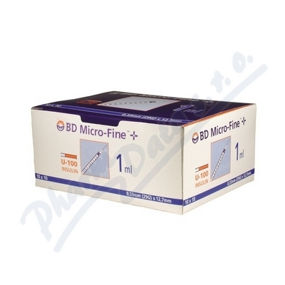 Inzulin.stříkačky BD 1 ml 29G x 12.7mm U-100 100ks