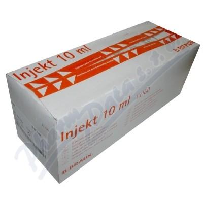 Zobrazit detail - Stříkačka INJEKT 2-dílná 10ml LE oranž. ster. 100ks