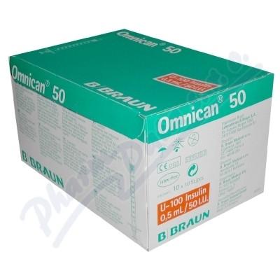Zobrazit detail - Inj. střík. ins. 0. 5ml-50 IU OMNICAN 100ks 9151125