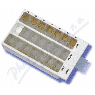 Zobrazit detail - Dávkovač léků OBZOR typ 02 týdenní bílý
