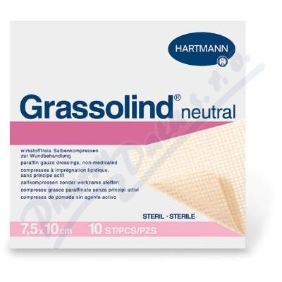 Kompres Grassolind Neutral ster.7.5x10cm 50ks