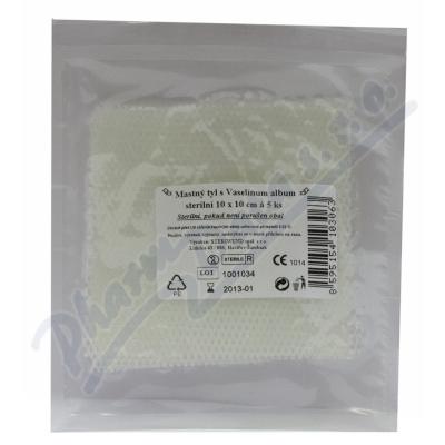 Krytí sterilní-mastný tyl 10x10cm/5ks Steriwund