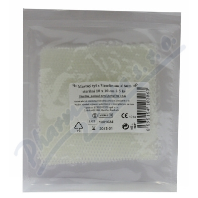 Zobrazit detail - Krytí sterilní-mastný tyl 10x10cm-5ks Steriwund