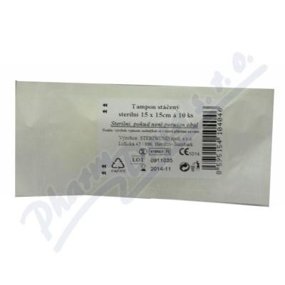 Tampón stáčený z gázy steril. 15x15/10ks Steriwund
