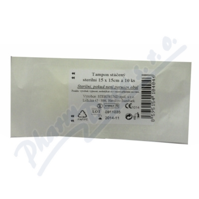 Zobrazit detail - Tampón stáčený z gázy steril.  15x15-10ks Steriwund