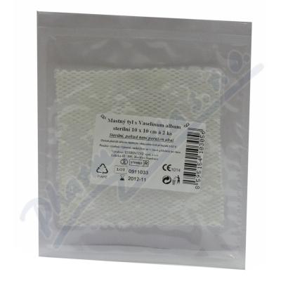 Zobrazit detail - Krytí sterilní-mastný tyl 10x10cm-2ks Steriwund