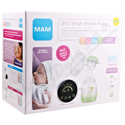MAM 2v1 Odsávačka mateřského mléka elektr.a manuál