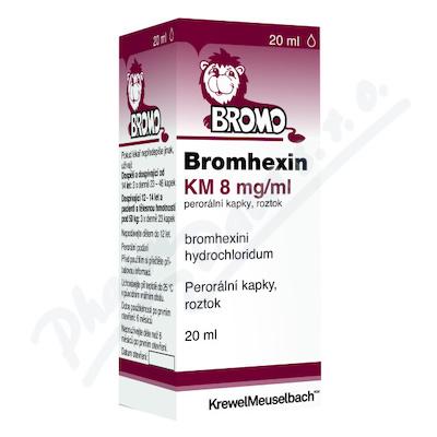 Zobrazit detail - Bromhexin 8 KM kapky gtt. 1x20ml 8mg-ml
