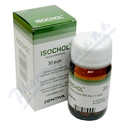Zobrazit detail - Isochol drg. 30x400mg (lahv. )