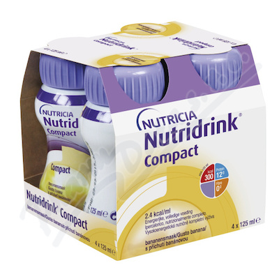 Nutridrink Compact s p��ch.Ban�n por.sol.4x125 ml