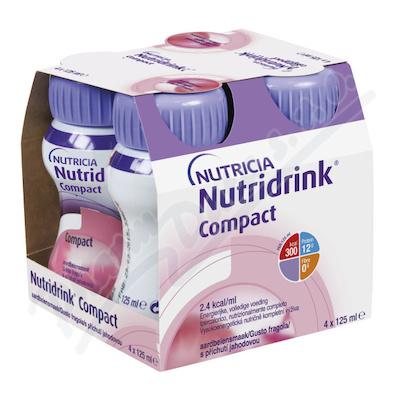 Zobrazit detail - Nutridrink Compact s přích.  jahod.  por. sol. 4x125ml