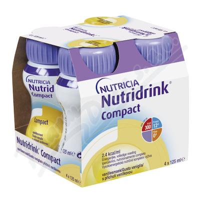 Zobrazit detail - Nutridrink Compact s přích. vanilk.  por. sol. 4x125ml
