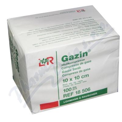 Zobrazit detail - Gáza hydrofil. skl. kompr. Gazin 10x10cm-100ks 8vrst.