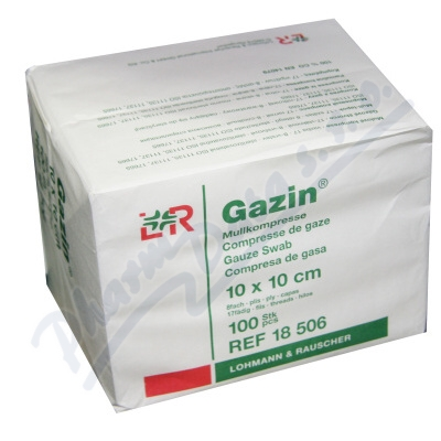 Gáza hydrofil.skl.kompr.Gazin 10x10cm-100ks 8vrst.