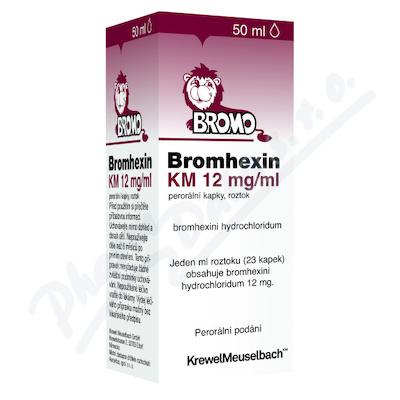 Zobrazit detail - Bromhexin 8 KM kapky gtt. 1x50ml 8mg-ml