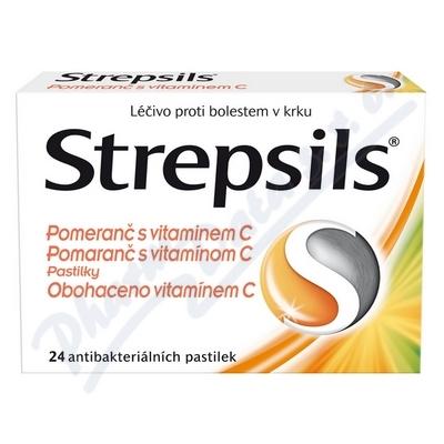Zobrazit detail - Strepsils Pomeran� s vitamin. C orm. pas. 24
