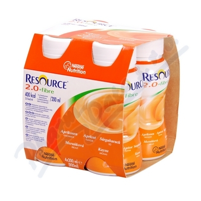 Resource 2.0kcal Fibre Meruňkový por.sol.4x200ml