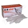 Rukavice vinylové V-R vel.M bezprašné 200ks