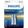 Baterie Ultra Alkaline AAA PHILIPS LR03E2B/10 2ks
